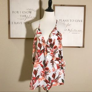 14th & Union Floral Strappy Blouse